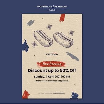 Szablon plakatu sprzedaży żywności