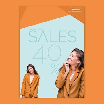 Szablon plakatu sprzedaży