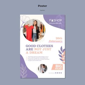 Szablon Plakatu Super Sprzedaży Mody Darmowe Psd
