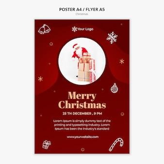 Szablon plakatu świątecznej koncepcji