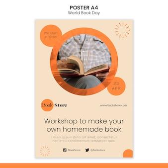 Szablon plakatu światowego dnia książki