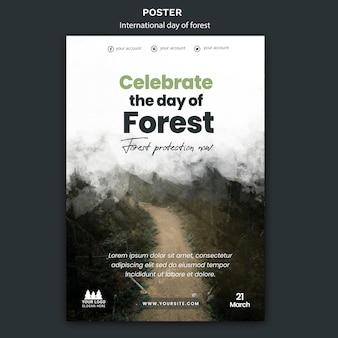 Szablon plakatu światowego dnia lasu