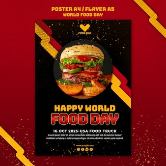 Szablon plakatu światowego dnia żywności