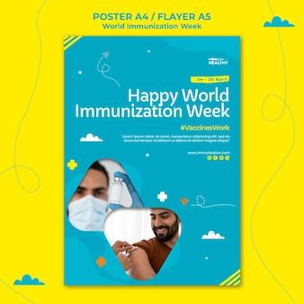Szablon plakatu światowego tygodnia szczepień