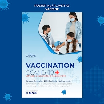 Szablon plakatu szczepionki