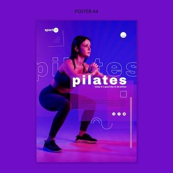 Szablon plakatu szkolenia pilates