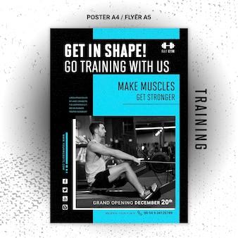 Szablon plakatu szkoleniowego ze zdjęciem