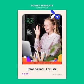 Szablon plakatu szkolnego w domu