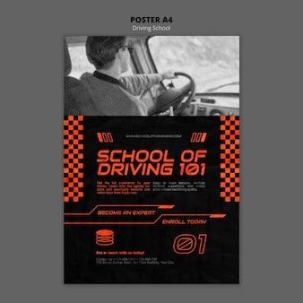 Szablon plakatu szkoły jazdy a4