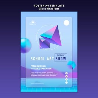 Szablon plakatu sztuki szkoły