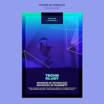 Szablon plakatu technologii gradientowej