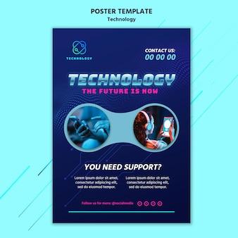 Szablon plakatu technologii ze zdjęciem