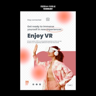 Szablon plakatu technologii