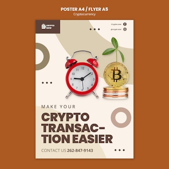 Szablon plakatu transakcji kryptowalut