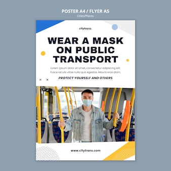 Szablon plakatu transportu publicznego