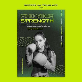 Szablon plakatu treningowego na siłowni