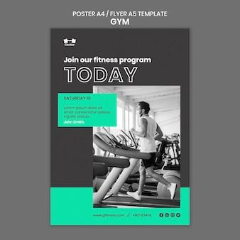 Szablon plakatu treningu na siłowni