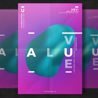 Szablon plakatu twórczego