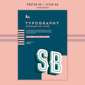 Szablon plakatu typografii