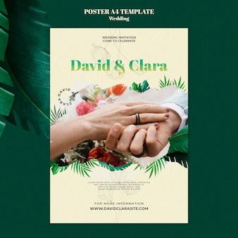Szablon plakatu uroczystości weselnych