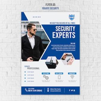 Szablon plakatu usług bezpieczeństwa