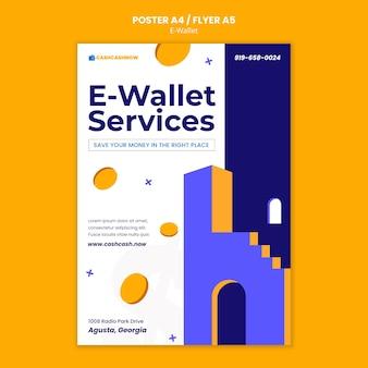 Szablon plakatu usług e-portfela