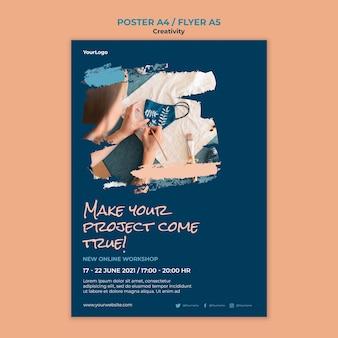 Szablon plakatu warsztatów kreatywności