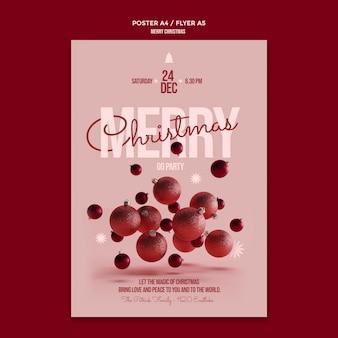 Szablon plakatu wesołych świąt