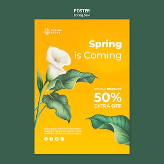 Szablon plakatu wiosennej sprzedaży