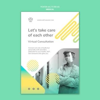 Szablon plakatu wirtualnej konsultacji