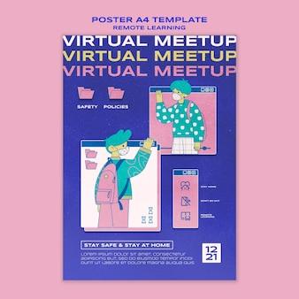 Szablon plakatu wirtualnej nauki