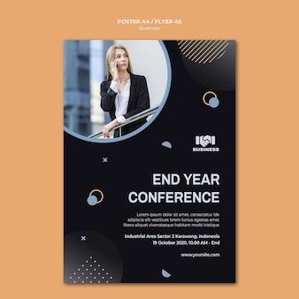 Szablon plakatu wydarzenia biznesowego