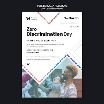 Szablon plakatu wydarzenia dnia zerowej dyskryminacji