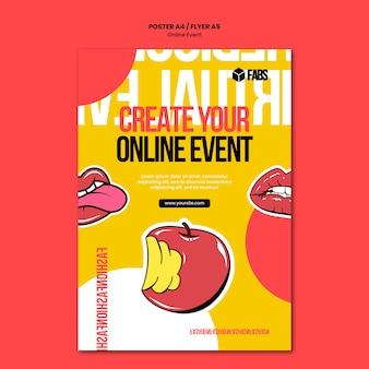 Szablon plakatu wydarzenia online