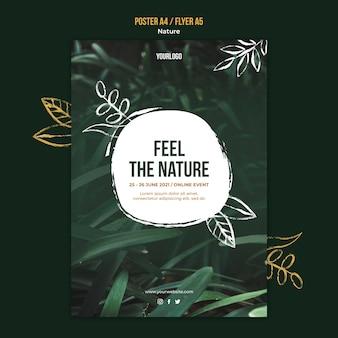 Szablon plakatu wydarzenia przyrody
