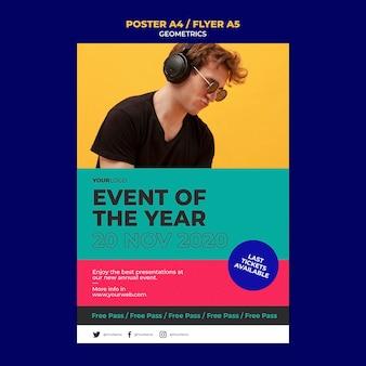 Szablon plakatu wydarzenia roku