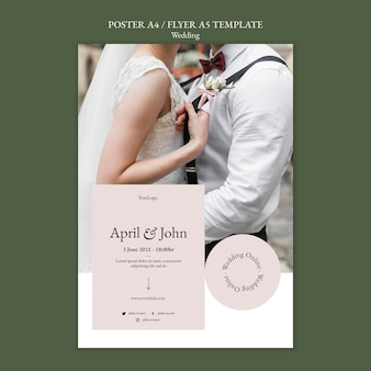Szablon plakatu wydarzenia ślubnego