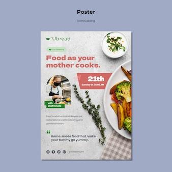 Szablon plakatu wydarzenie kulinarne