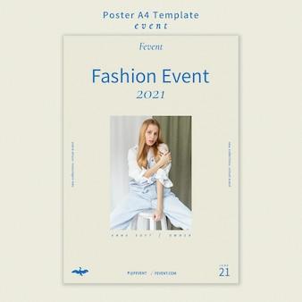 Szablon plakatu wydarzenie mody