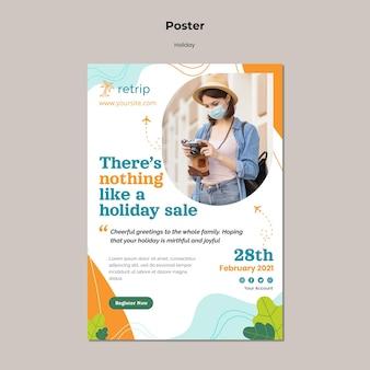 Szablon plakatu wyprzedaży świątecznej