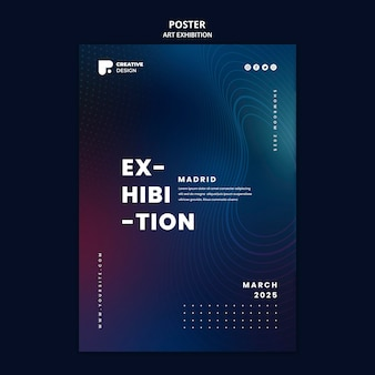 Szablon plakatu wystawy sztuki