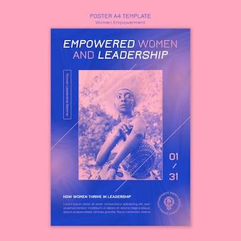 Szablon plakatu wzmocnienia pozycji kobiet
