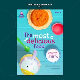 Szablon plakatu z jedzeniem dla dzieci