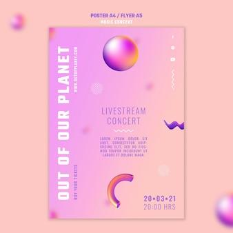 Szablon plakatu z koncertu muzycznego z naszej planety