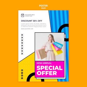 Szablon plakatu z ofertą specjalną sprzedaży online