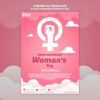 Szablon plakatu z okazji międzynarodowego dnia kobiet