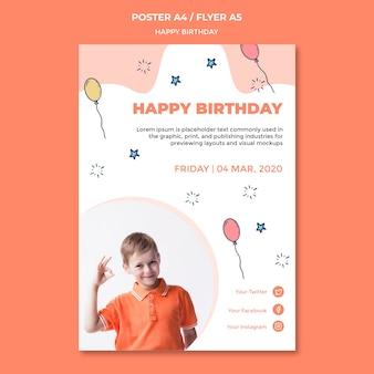 Szablon plakatu z okazji urodzin