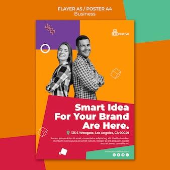 Szablon plakatu z pomysłem marki