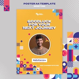 Szablon plakatu z pozdrowieniami z podróży