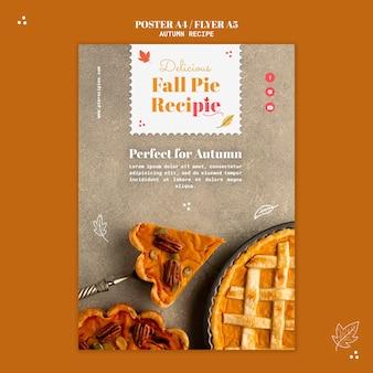 Szablon plakatu z przepisem na jesień